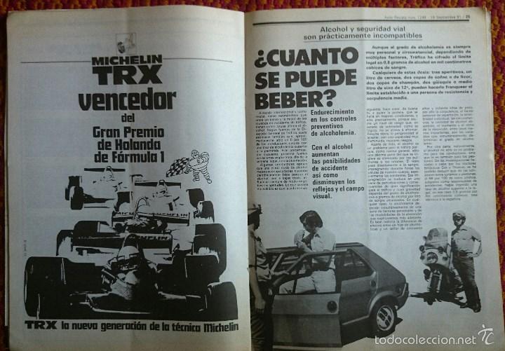 Coches: Auto Revista nº 1249, 19 septiembre 1981. Renault 18 GTD, Robots, Alcoholemia, Gran Premio de Italia - Foto 5 - 56938901