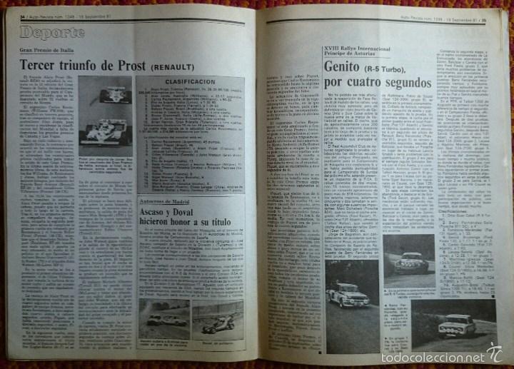 Coches: Auto Revista nº 1249, 19 septiembre 1981. Renault 18 GTD, Robots, Alcoholemia, Gran Premio de Italia - Foto 6 - 56938901