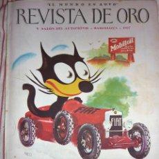 Coches: REVISTA DE ORO EL MUNDO EN AUTO SALON DEL AUTOMOVIL BARCELONA 1927 Nº 33 CUERPO BOMBEROS , COCHES. Lote 57150010