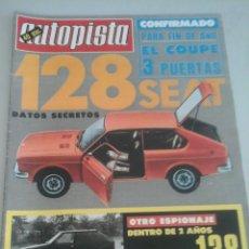 Coches: AUTOPISTA Nº 920 AÑO 1976. PRUEBA: VOKSWAGEN GOLF DIESEL-RENAULT 12. Lote 57525755