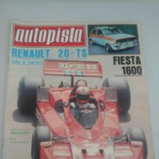 Coches: AUTOPISTA Nº 962 AÑO 1977. RENAULT 20 TS-FORD FIESTA 1600-. Lote 57526210