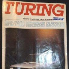 Coches: REVISTA TURING SEAT NMERO 174 OCTUBRE DE 1982 SEAT 127 FURA CRONO REPORTAJE SKATEBOARD. Lote 57653153
