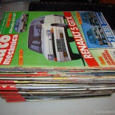 Coches: LOTE DE 47 ANTIGUAS REVISTAS AUTO MECÁNICA - AÑOS 80 Y 90. Lote 57717270