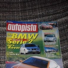 Coches: AUTOPISTA Nº 2084 (22-06-99) (OPEL ASTRA COUPÉ, BMW SERIE 2, COMPARATIVA V6, LANCIA LYBRA). Lote 57772193