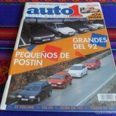 Coches: AUTO 1 AUTO1 SPORT MAGAZINE UNO Nº 114. 1991. ALFA SPIDER PEUGEOT 106 CORSA CLIO IBIZA FIESTA. BE.. Lote 57917588