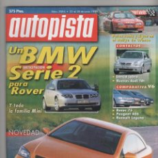 Coches: AUTOPISTA 2084,22-6-99,RALLY OURENSE,BMW Z3 ROADSTER, LANCIA LYBRA, ROVER 75 V6, PEUGEOT 406 V6. Lote 58769689