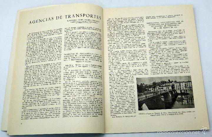Coches: Transportes por carretera publicación Instituto Trabajo nº 22 enero 1952 - Foto 2 - 59029100