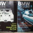 Coches: REVISTA BMW MAGAZINE NÚM. 2 Y 4, AÑO 1999, COUPE LE MANS JENNY HOLZER RALF SCHUMACHER BMW WILLIAMS. Lote 59068805