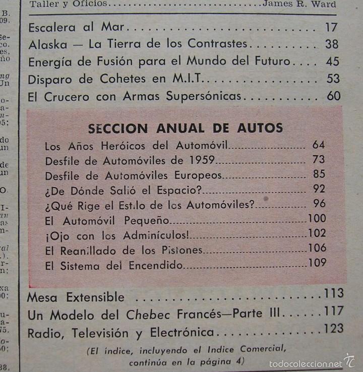 Coches: REVISTA MECANICA POPULAR MARZO 1959. VER INDICE Y FOTOS - Foto 4 - 196329482