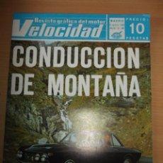 Coches: REVISTA VELOCIDAD NUMERO 360 CONDUCCION DE MONTAÑA. Lote 60598531
