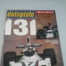 Coches: AUTOPISTA - Nº 839-1975-CRYSLER 180 Y 2 LITROS--FIAT 131 1300S-. Lote 61246975