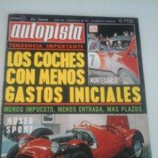 Coches: AUTOPISTA - Nº 625-1971. Lote 61248799