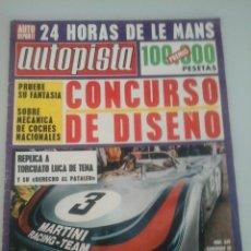 Coches: AUTOPISTA - Nº 645-1971-24 HORAS DE LE MANS--CARBURACION-. Lote 61319779