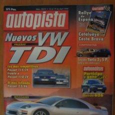 Coches: REVISTA AUTOPISTA Nº 2074 ABRIL 1999. Lote 62375583