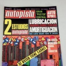 Coches: AUTOPISTA - Nº 628-1971-LUBRICACION-EMERSON FITTIPALDI-REGLAMENTO F-1430-. Lote 63417176