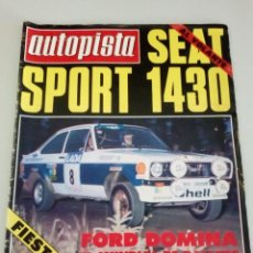 Coches: AUTOPISTA - Nº 968-1977-SEAT SPORT 1430-FORD FIESTA 1300-FORD FIESTA REVERTER. Lote 63466968