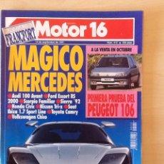 Coches: MOTOR 16 N 412 14 DE SEPTIEMBRE DE 1991. Lote 64356950