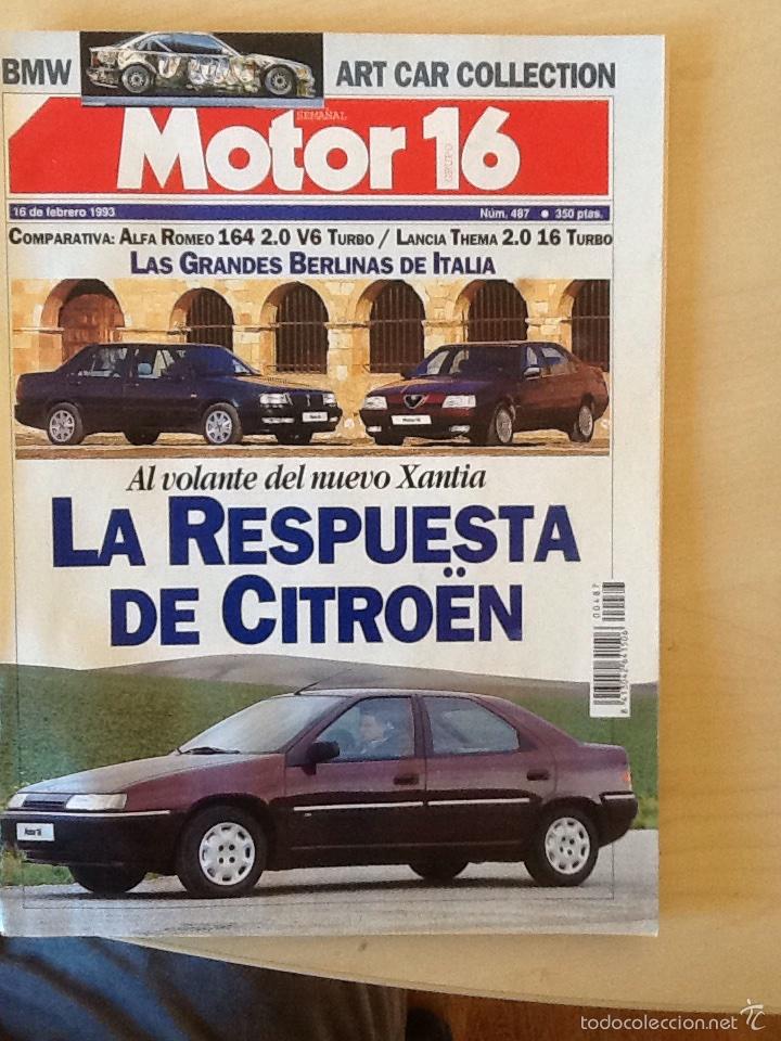 MOTOR 16 N 487 16 DE FEBRERO 1993 (Coches y Motocicletas Antiguas y Clásicas - Revistas de Coches)