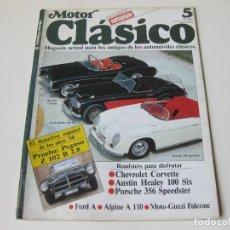Coches: MOTOR CLASICO Nº 5. REVISTA MAGAZINE ACTUAL PARA LOS AMIGOS DE LOS AUTOMOVILES CLASICOS. Lote 64542303