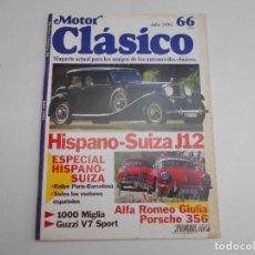 Coches: MOTOR CLASICO NUM 66 AÑO 1993 HISPANO SUIZA J12 GUZZI V7 SPORT PORSCHE 356 ALFA ROMEO GIULIA. Lote 64980455