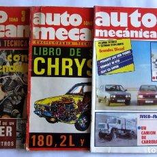 Coches: AUTO MECÁNICA LOTE DE 3 REVISTAS (1975 Y 1982) NÚMS. 67, 76 Y 142. Lote 65129267