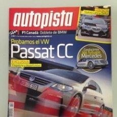Coches: AUTOPISTA 2552,10-6-08,F1 CANADA,VW PASSAT CC 3.6 V6 4MOTION,MERCEDES F700 DIESOTTO,HYUNDAI I800. Lote 65847026