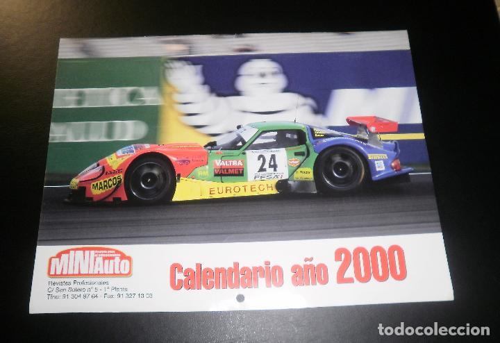REVISTA MINIAUTO. CALENDARIO DE PARED AÑO 2000 (Coches y Motocicletas Antiguas y Clásicas - Revistas de Coches)