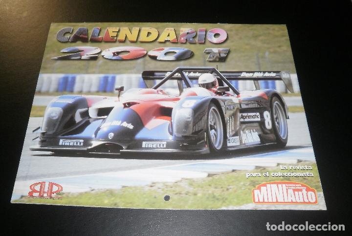 REVISTA MINIAUTO. CALENDARIO DE PARED AÑO 2001 (Coches y Motocicletas Antiguas y Clásicas - Revistas de Coches)
