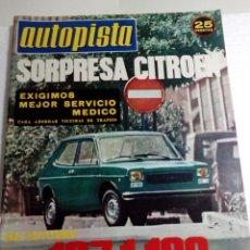 Coches: AUTOPISTA - Nº 812-1974-WILFREDO RICART-CITREON CX-EL PEGASO DE OBRA MAESTRA DE RICART-. Lote 68488929