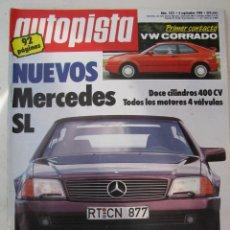 Carros: REVISTA AUTOPISTA Nº 1521 - AÑO 1988 - FOTO SUMARIO - NISSAN SUNNY GTI. Lote 68837781