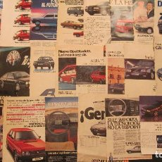 Coches: CONJUNTO DE HOJAS DE PROPAGANDA DE COCHES DE DIFERENTES EPOCAS.SEAT 850.......................... Lote 69240765