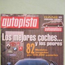 Coches: AUTOPISTA Nº 1971 DE 1997.LOS MEJOR Y PEORES COCHES BUEN ESTADO . Lote 69387629