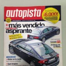 Coches: AUTOPISTA 2657,15-6-10,F1 CANADA, LE MANS,AUDI A4 2.0 TDI,VOLVO S60 D3,MITSUBISHI ASX DI-4D 4WD. Lote 69412693