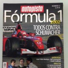 Coches: FORMULA 1 AUTOPISTA 5, 2002, POSTER, TODOS CONTRA SCHUMACHER, LA SELECCIÓN ESPAÑOLA, . Lote 69570013