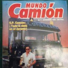 Coches: REVISTA MUNDO CAMION NÚMERO 7 DE NOVIEMBRE 1989 . Lote 118984532