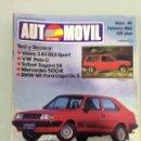 Coches: AUTOMOVIL Nº49,BMW M1 TURBO-FORD CAPRI TURBO GR5,VW POLO C,TALBOT TAGORA SX,BMW 700 CS COUPE, VOLVO . Lote 71427287