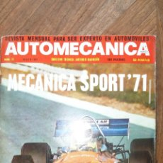Coches: AUTOMECANICA Nº 21 - MAYO 1971. Lote 72232011