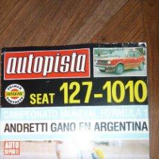 Coches: AUTOPISTA Nº 987 - 22 ENERO 1978. Lote 72303175