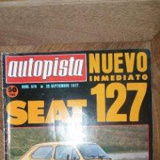 Coches: AUTOPISTA Nº 970 - 25 SEPTIEMBRE 1977. Lote 72310619