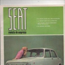 Coches: (TC-12) REVISTA DE EMPRESA SEAT MARZO 1968. Lote 72457019