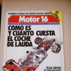 Coches: REVISTA MOTOR 16 Nº 54. Lote 73559719