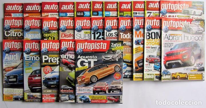 AUTOPISTA LOTE DE 55 NÚMEROS DEL AÑO 2011 (Coches y Motocicletas Antiguas y Clásicas - Revistas de Coches)