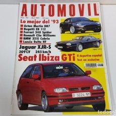Coches: AUTOMOVIL NÚMERO 183, ABRIL 1993. AUTOMÓVIL. Lote 74084995