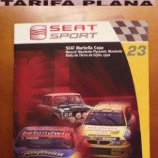 Auto: FASCICULO N 23 SEAT MARBELLA COPA RALLY DE TIERRA DE GIJON 1991 MANUEL MUNIENTE - FLORENCIO MUNIENTE. Lote 74158751
