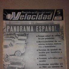 Coches: VELOCIDAD Nº 187 (10-4-1965) (PANORAMA ESPAÑOL, BARREIROS, PEGASO, SEAT 600 ABARTH, SAVA). Lote 74979431