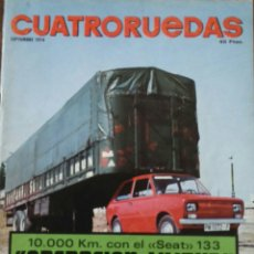 Coches: REVISTA CUATRORUEDAS DE SEPTIEMBRE 1974 SEAT 133. Lote 75107127
