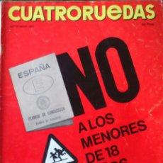 Coches: REVISTA CUATRORUEDAS DE SEPTIEMBRE 1970 . Lote 75107685