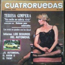 Coches: REVISTA CUATRORUEDAS DE FEBRERO 1976 AUTOMOVIL . Lote 75107974