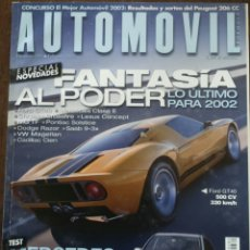 Coches: REVISTA AUTOMOVIL NÚMERO 289 DE FEBRERO 2002 FORD GT 40 MERCEDES-BENZ . Lote 75212109
