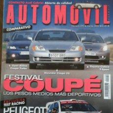Coches: REVISTA AUTOMOVIL NÚMERO 290 DE MARZO 2002 OPEL HYUNDAI TOYOTA COUPE . Lote 75212218